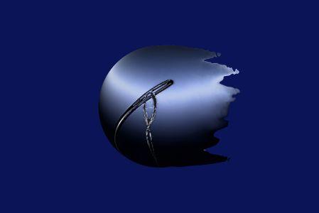 bol met naald (blue)